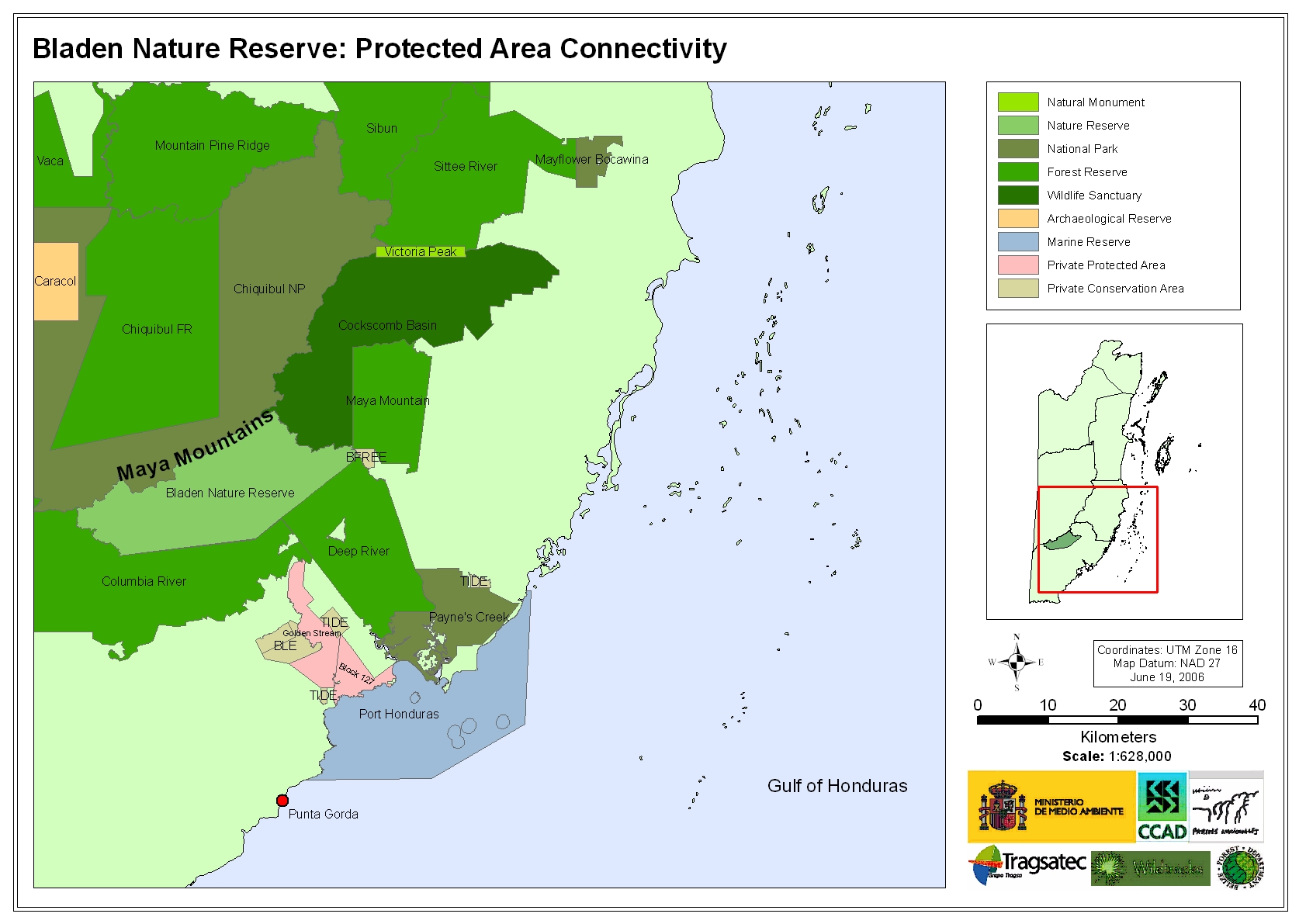 Bladen Nature Reserve: Protected Area Connectivity
