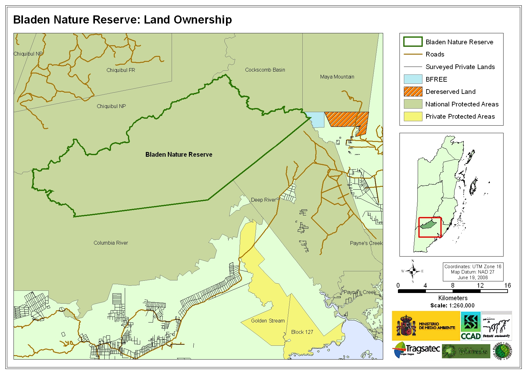 Bladen Nature Reserve: Land Ownership