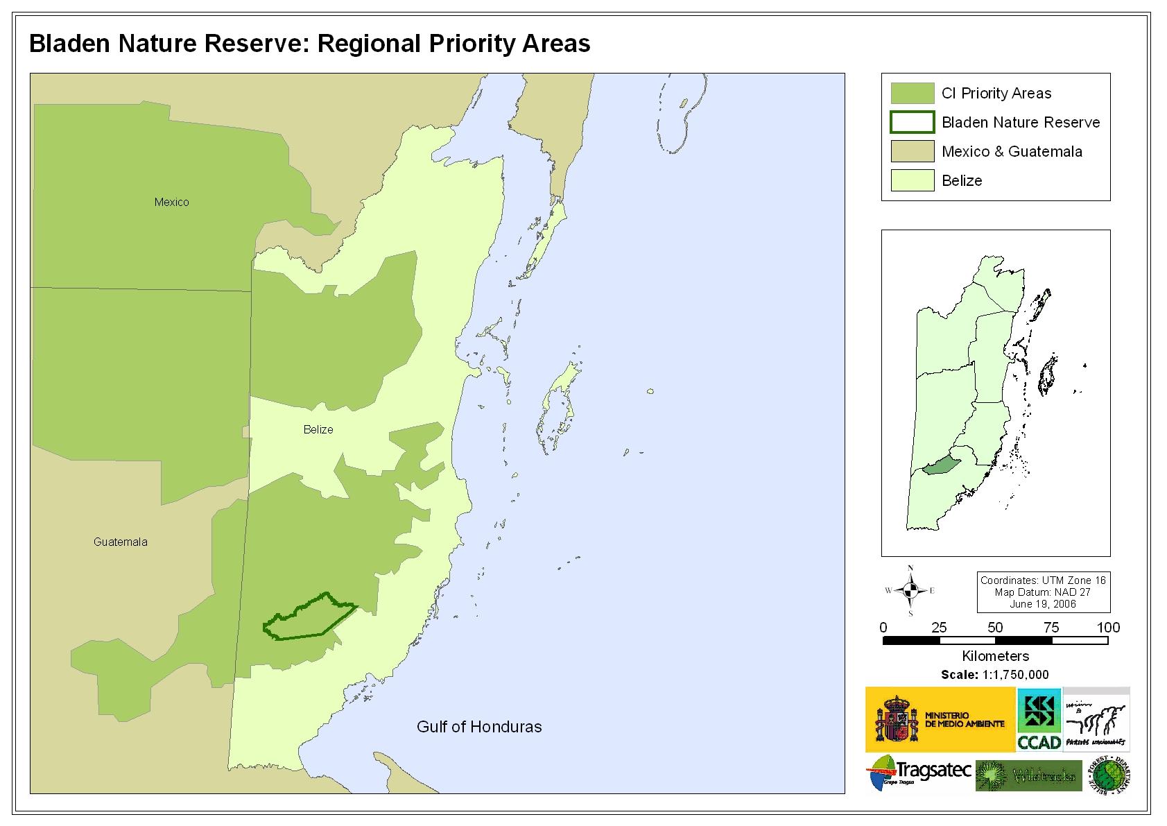 Bladen Nature Reserve: Regional Priority Areas
