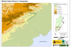 Bladen Nature Reserve: Topography