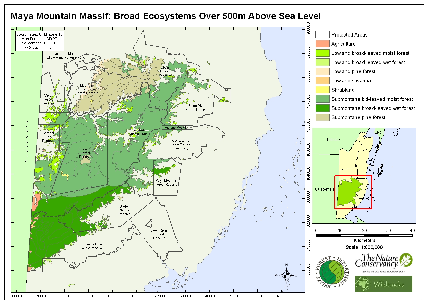 MMM - Broad Ecosystems over 500m