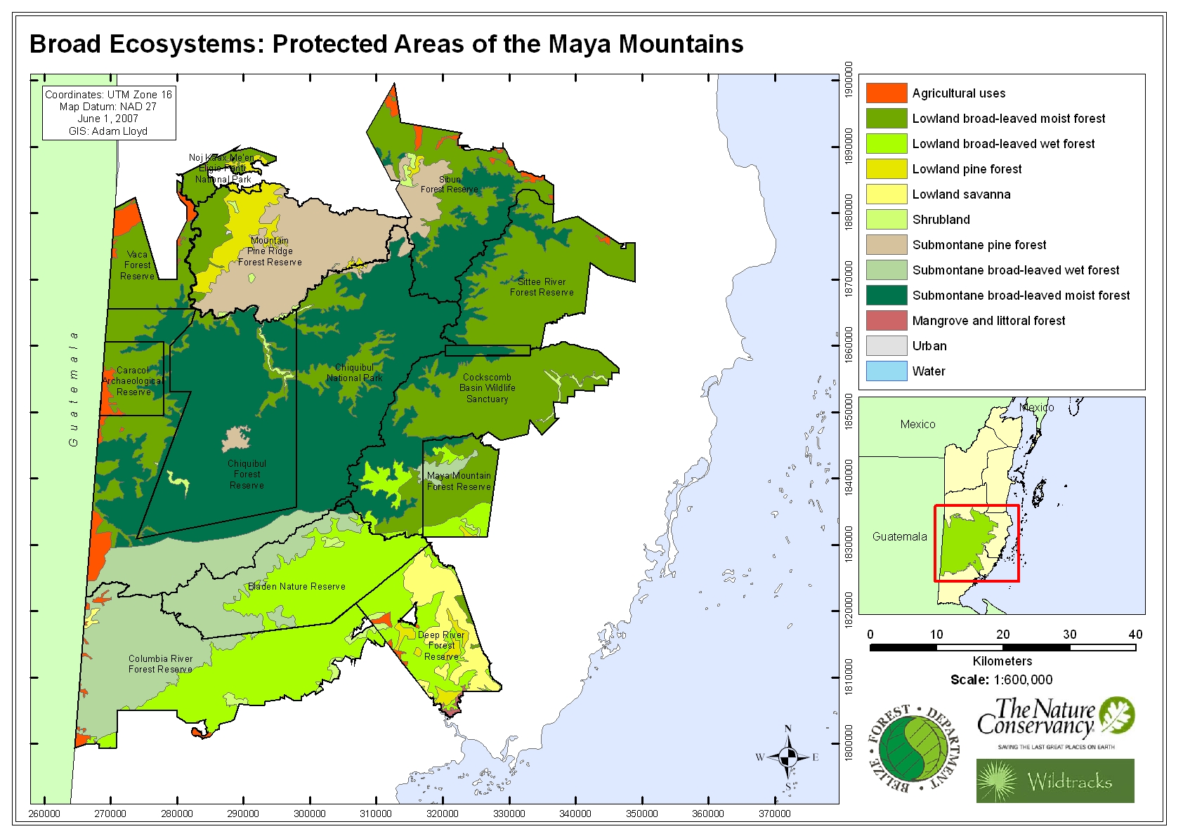 Broad Ecosystems: Protected Areas of the Maya Mountains