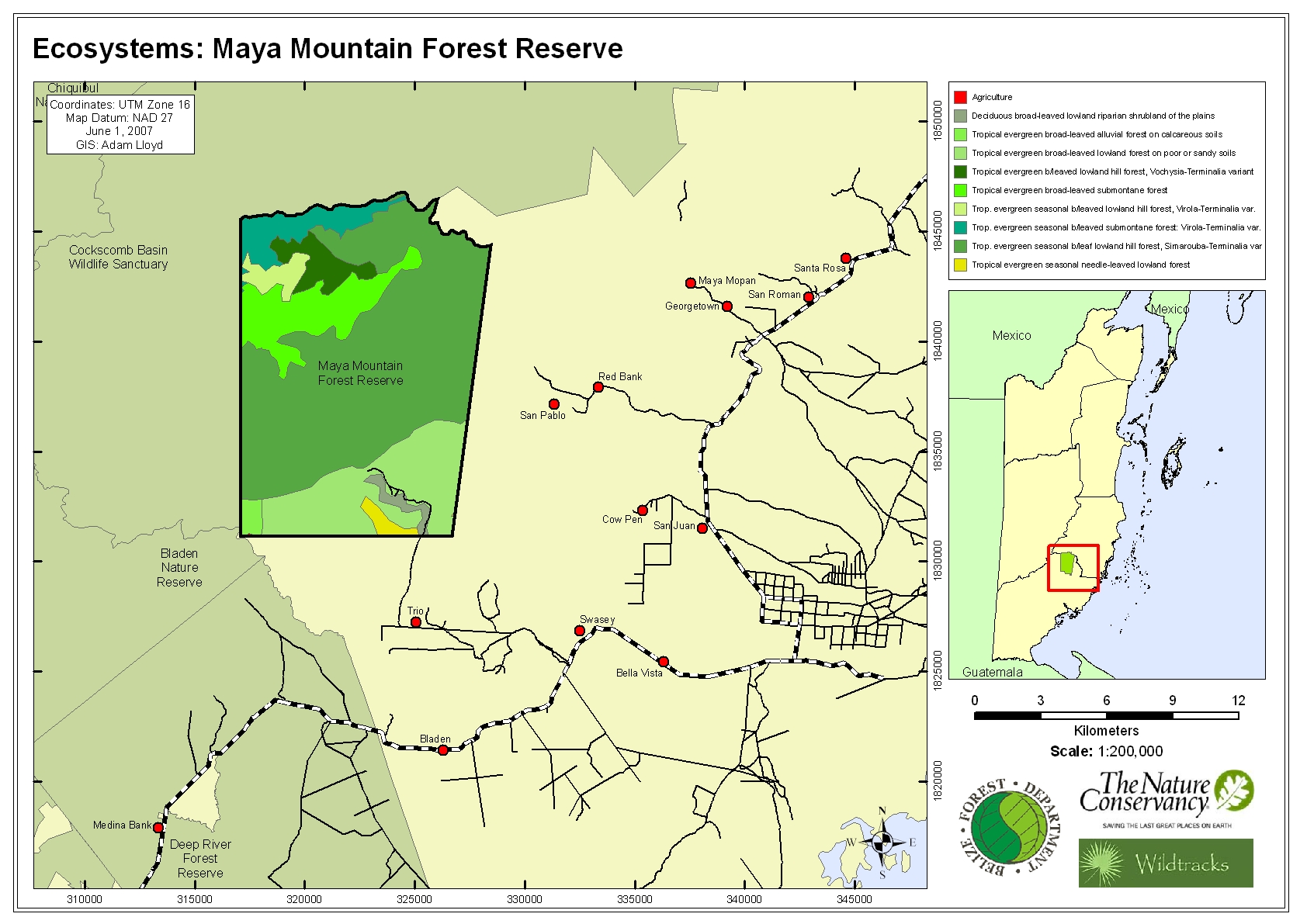 Ecosystems: Maya Mountain Forest Reserve