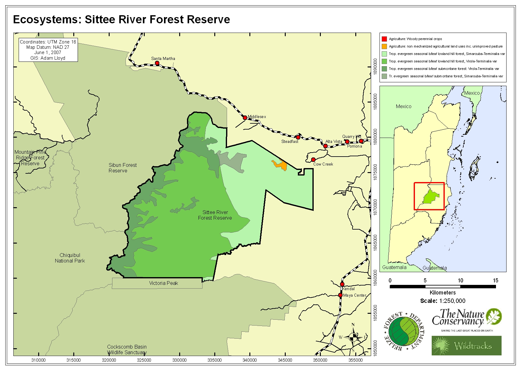 Ecosystems: Sittee River Forest Reserve