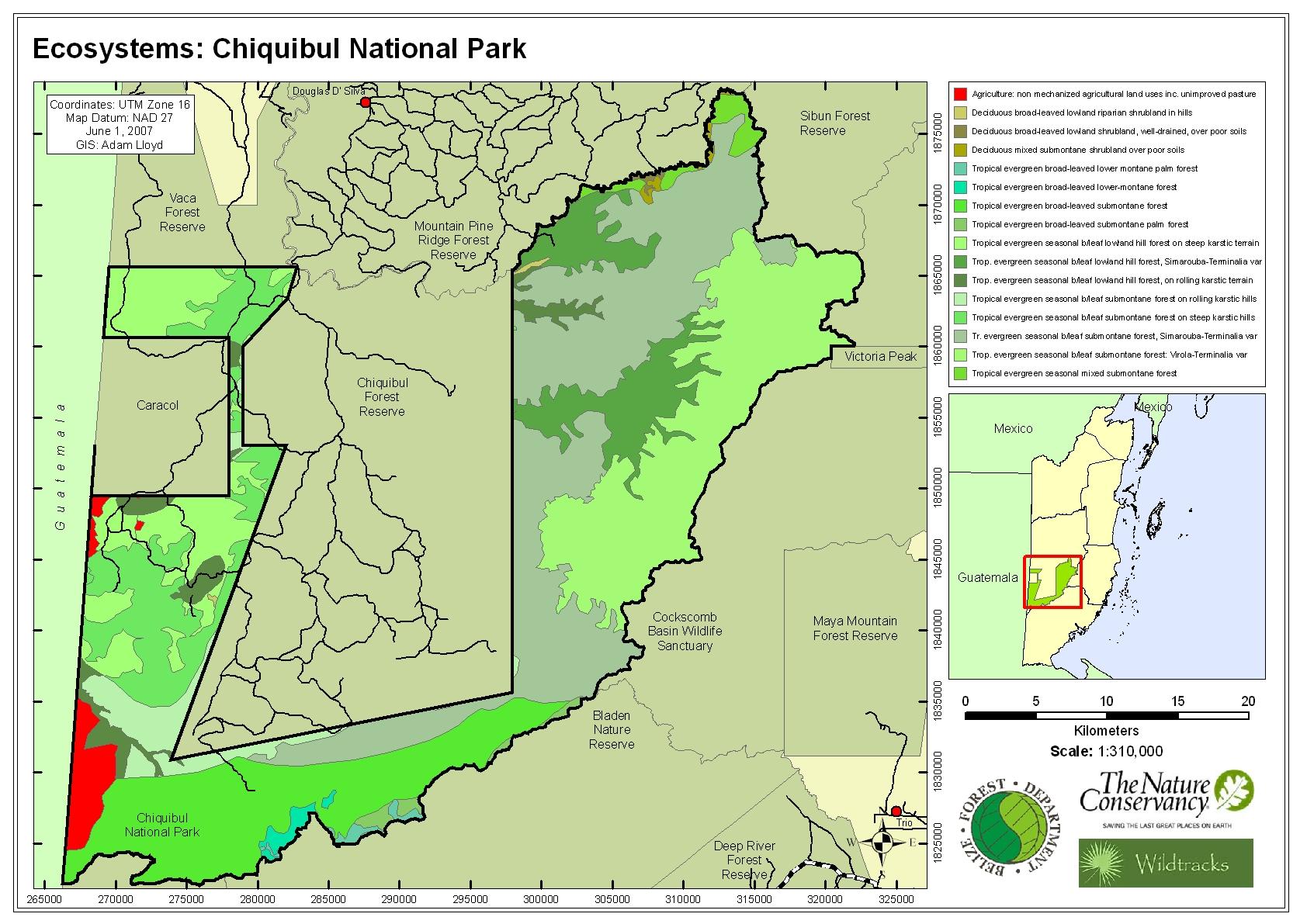 Ecosystems: Chiquibul National Park