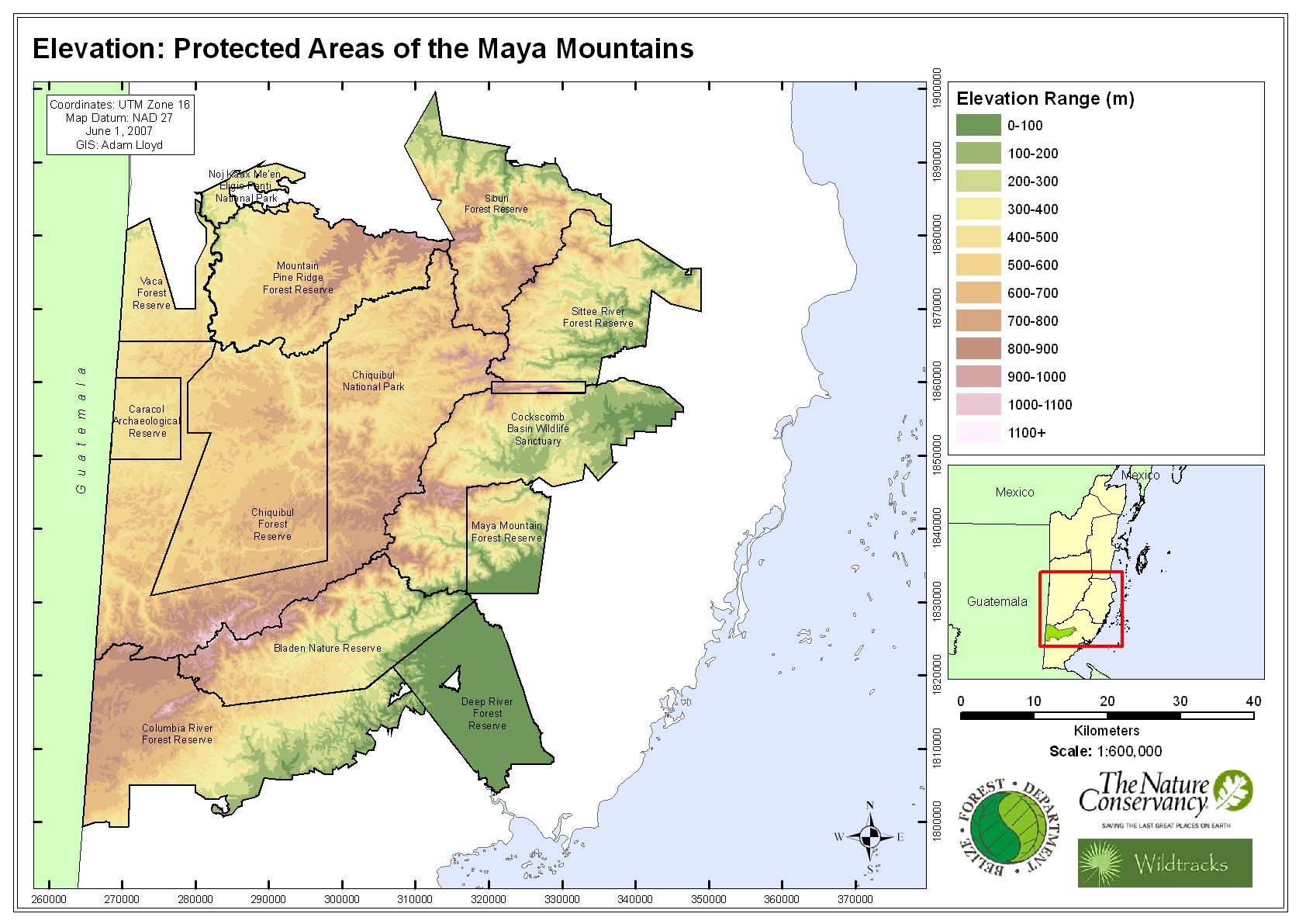 Elevation: Protected Areas of the Maya Mountains