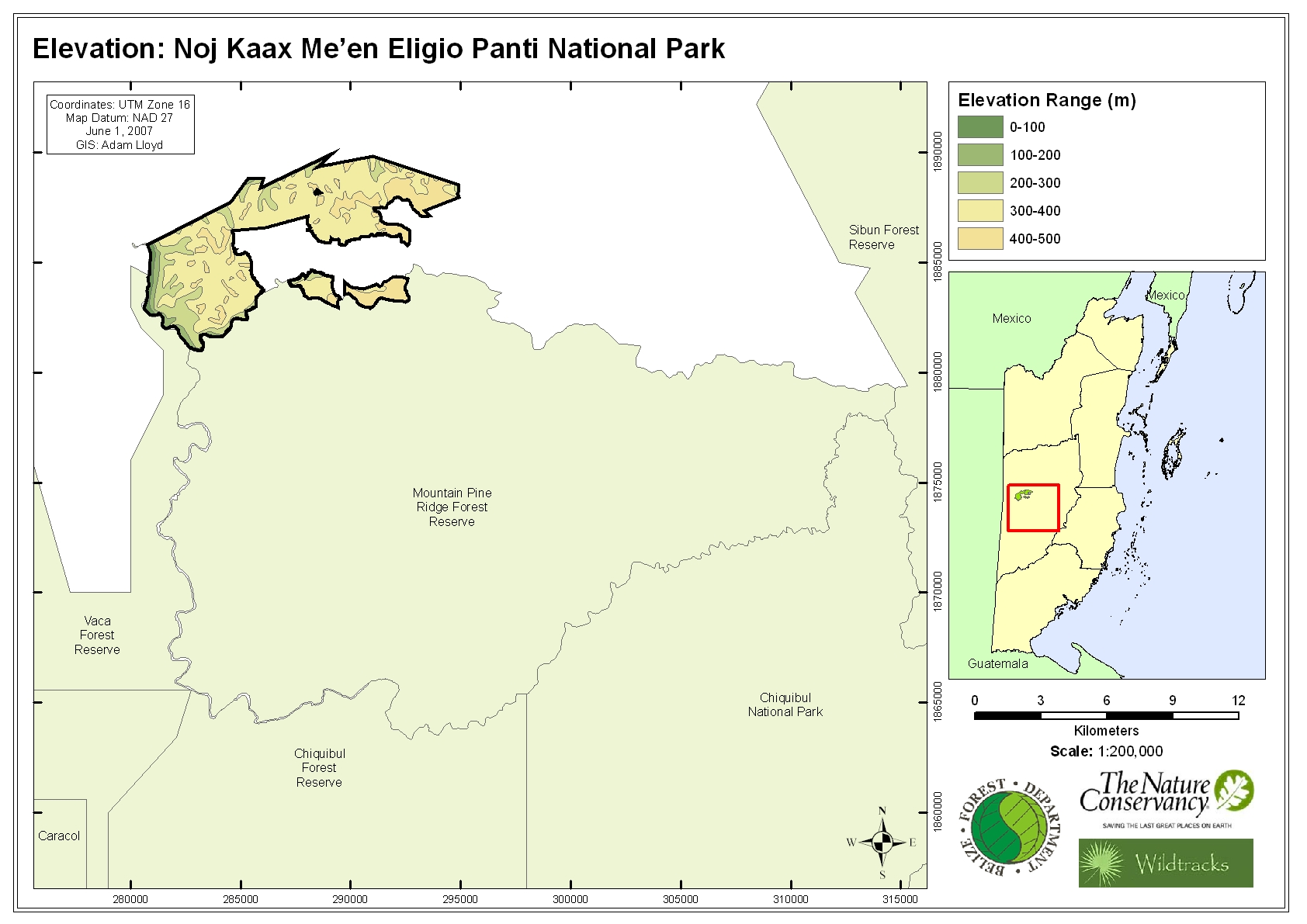 Elevation: Noj Kaax Me'en Eligio Panti National Park