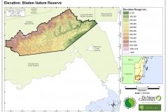 Elevation: Bladen Nature Reserve