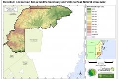 Elevation: Cockscomb Basin Wildlife Sanctuary and Victoria Peak  Natural Monument