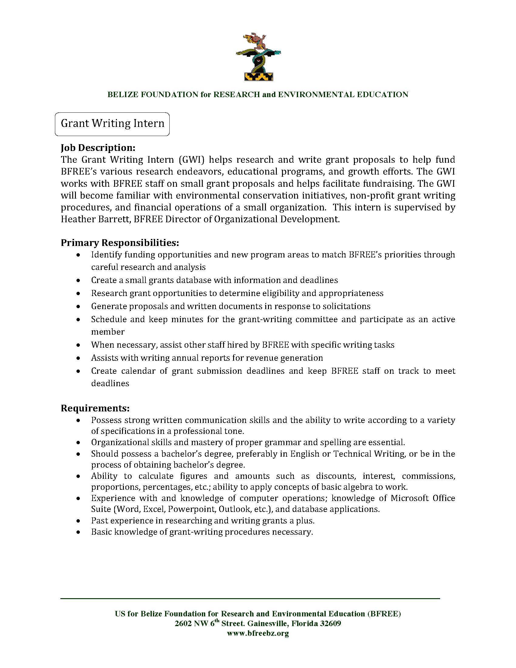 grant writing resumes - Sample Grant Writer Resume