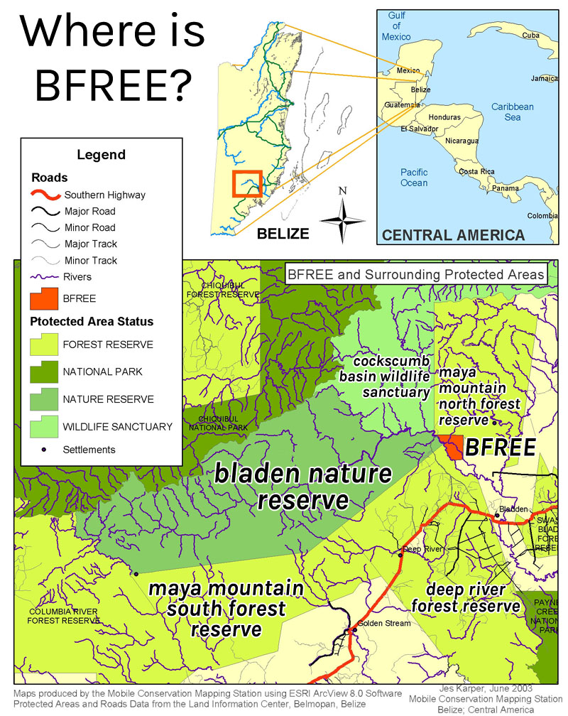 BFREE Locator Map