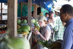 UMASS visit to a fruit market