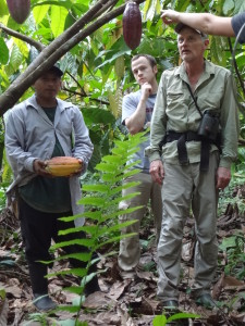 Lees McRae during a cacao tour
