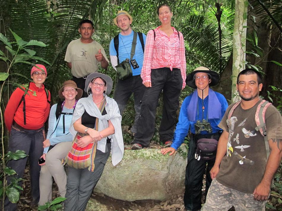 Teachers Institute during a hike.