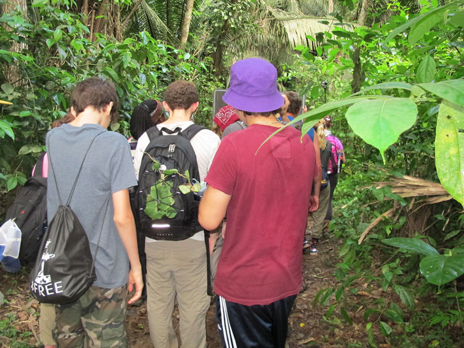 Western Michigan participated in a day-long hike.