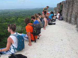 Western Michigan University visit Maya archeological site of Xunatunich.