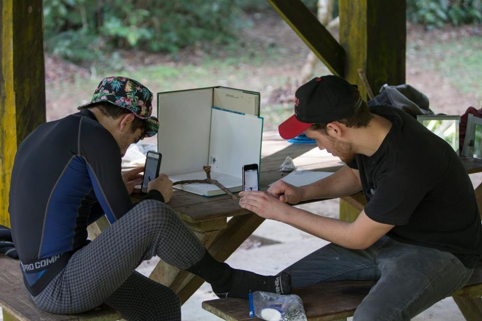 UMass students work on independent projects - pic by Sean Werle