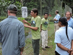 Jacob Marlin and Tom Pop lead a tour of the Hicatee Conservation and Research Center