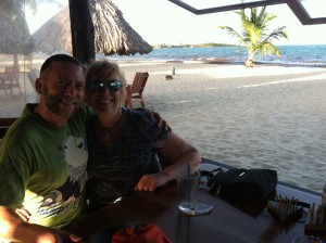 Dr. Jamie Rotenberg and his wife Dr. Vibeke Olson during his Field Course to Belize in March.