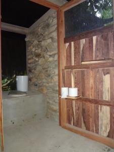 Interior of Composting toilet