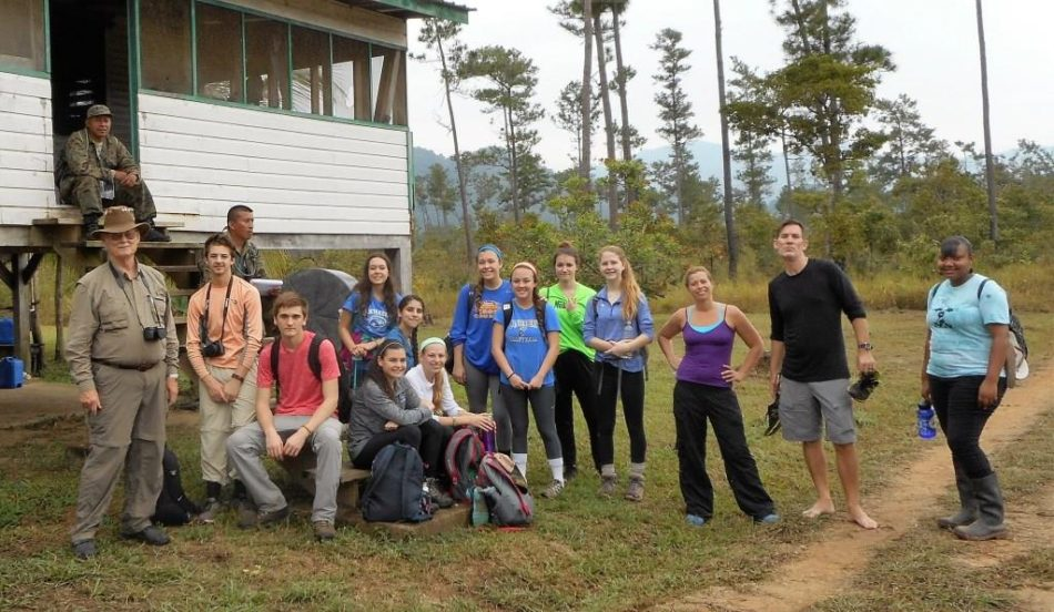 Canterbury High School taking a break on their hike out. Pic provided by Roger McDaniel